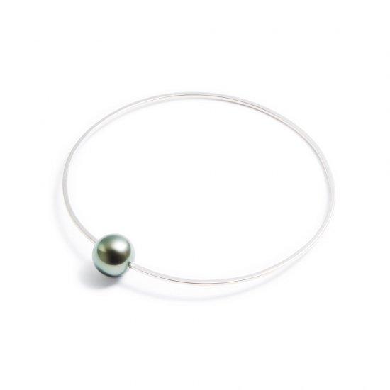 anorexia bracelet / medium pearl 【green】