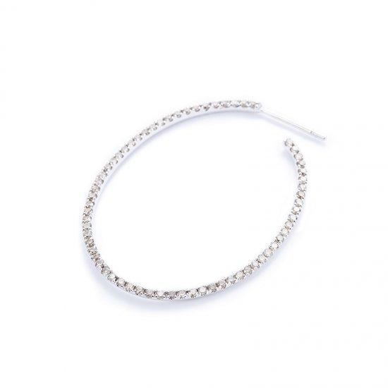 karma medium pierced earring / browndiamond