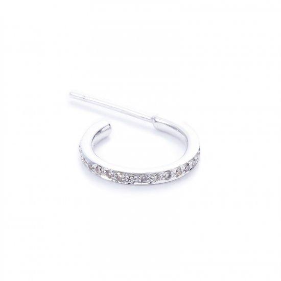 karma small pierced earring / browndiamond