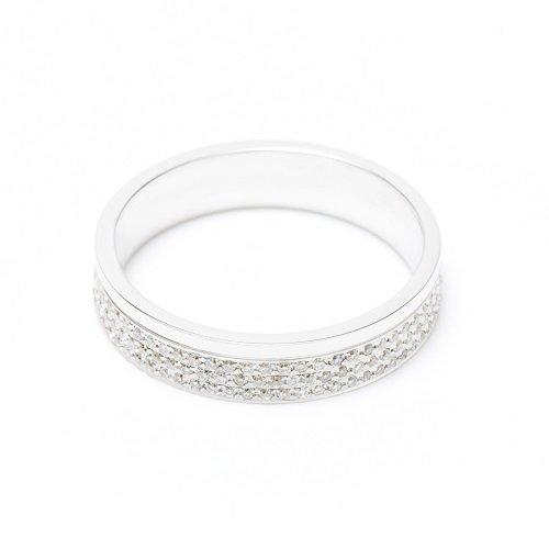 diamond line ring / under three