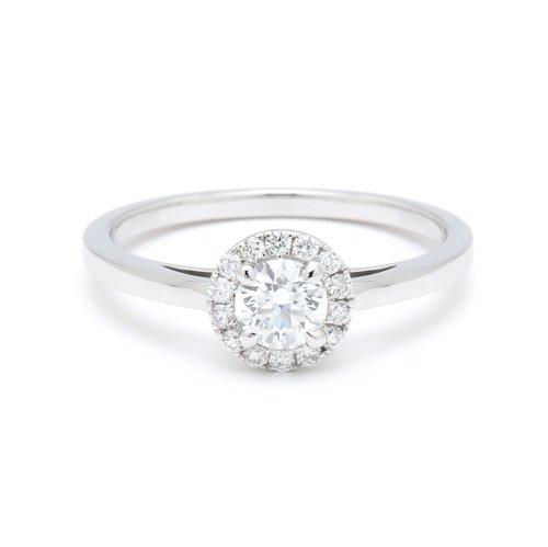 solitaire ring / circle diamond