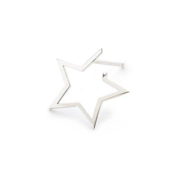 karma pierced earring / small falling star