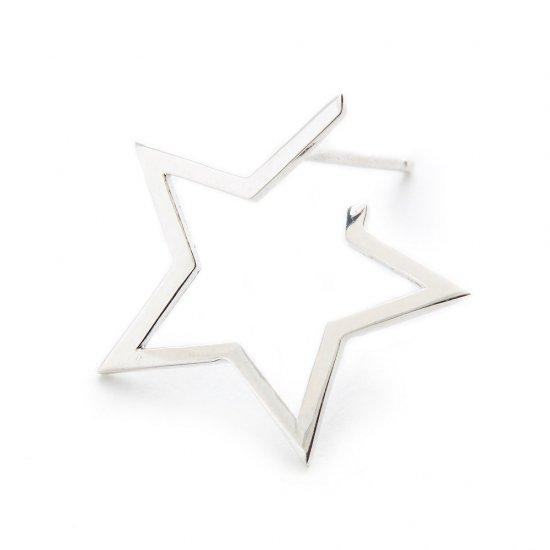 karma pierced earring / medium falling star