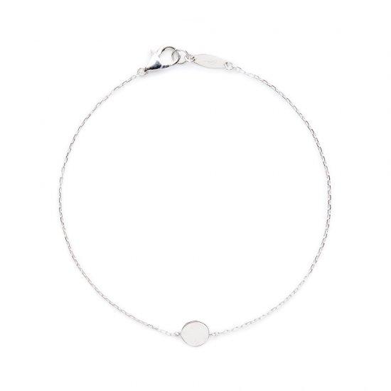 flat charm bracelet / full moon
