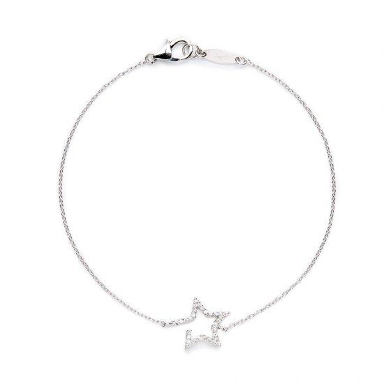 flat charm bracelet / falling star×diamond