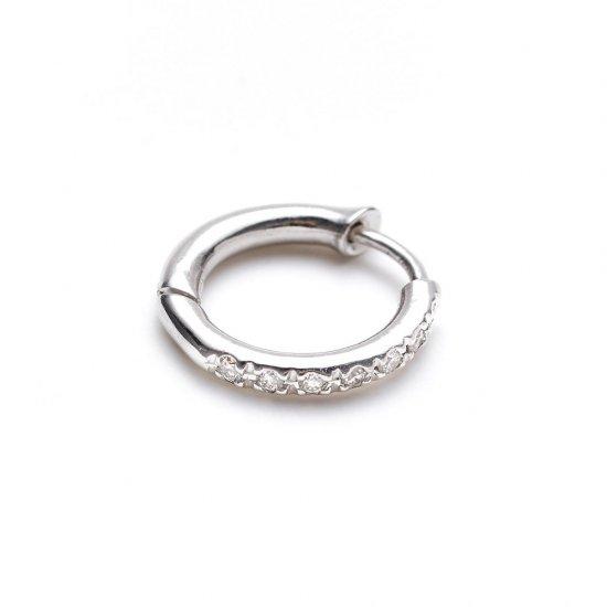 custom pierced earring / small× diamond