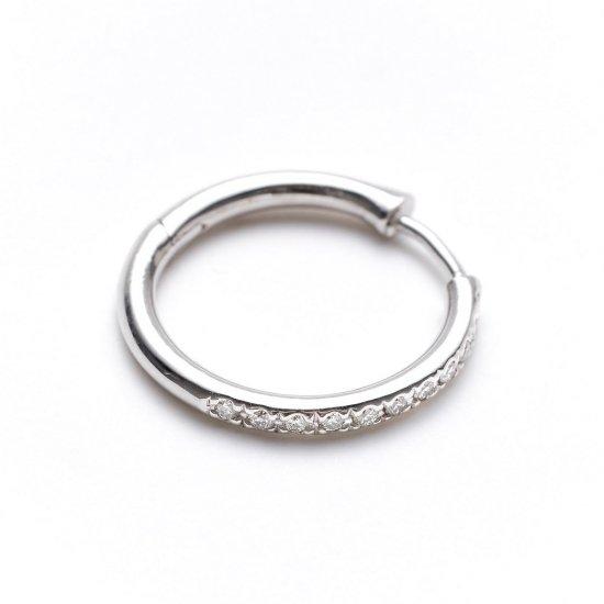 custom pierced earring / medium× diamond