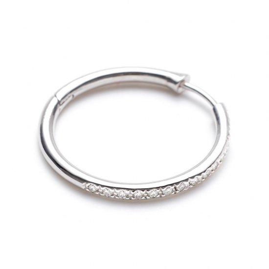 custom pierced earring / large× diamond