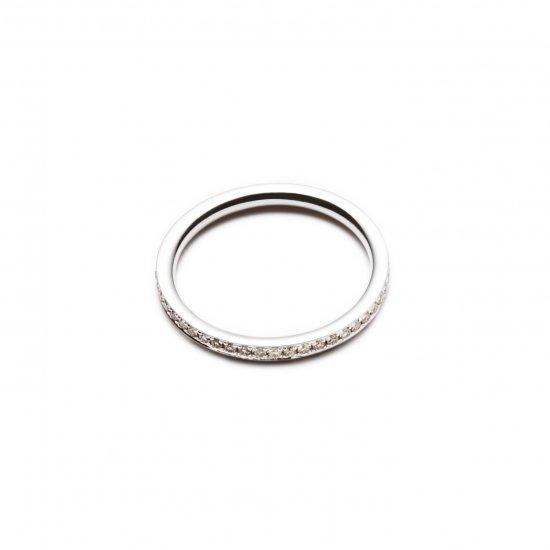 browndiamond pinky ring / full eternity