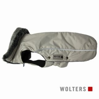 ウィンタージャケット アムンゼン 短頭種用 40cm ベージュグレイ