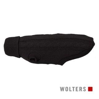 ニットプルオーバー ケーブルステッチ 短頭種用 30cm ブラック