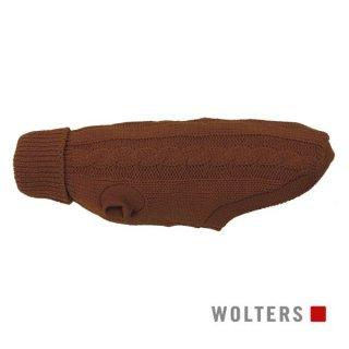 ニットプルオーバー ケーブルステッチ 短頭種用 35cm ブラウン