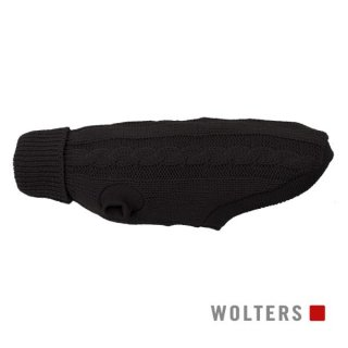 ニットプルオーバー ケーブルステッチ 短頭種用 50cm ブラック