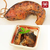チョウザメ燻製と煮付セット