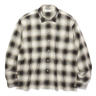 RADIALL  FAME - OPEN COLLARED SHIRT L/S BLK