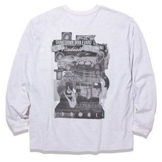 RADIALL  SHAKEDOWN BOULEVARD - CREW NECK T-SHIRT L/S A.GRY