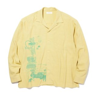 <img class='new_mark_img1' src='https://img.shop-pro.jp/img/new/icons41.gif' style='border:none;display:inline;margin:0px;padding:0px;width:auto;' />RADIALL HYDRAULIC - OPEN COLLARED SHIRT L/S YEL