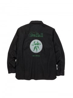 RADIALL  FREE - REGULAR COLLARED SHIRT L/S BLK