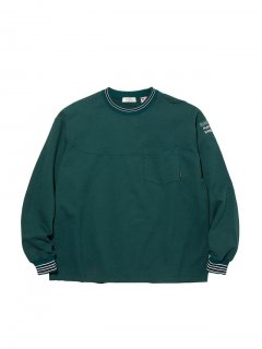 RADIALL SYNDICATE - CREW NECK POCKET T-SHIRT L/S GRN
