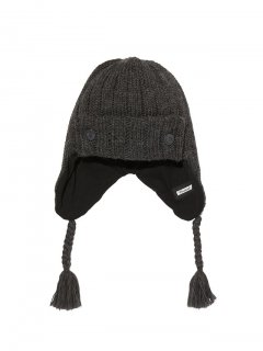 <img class='new_mark_img1' src='https://img.shop-pro.jp/img/new/icons41.gif' style='border:none;display:inline;margin:0px;padding:0px;width:auto;' />RADIALL  CRYPT - EARFLAP BEANIE  BLK