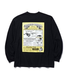 <img class='new_mark_img1' src='https://img.shop-pro.jp/img/new/icons14.gif' style='border:none;display:inline;margin:0px;padding:0px;width:auto;' />RADIALL GAMBLING HOURS–CREW NECK T-SHIRT L/S (BLACK)