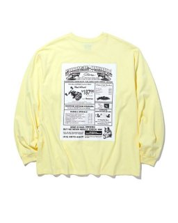 RADIALL GAMBLING HOURS CREW NECK T-SHIRT L/S (YELLOW)