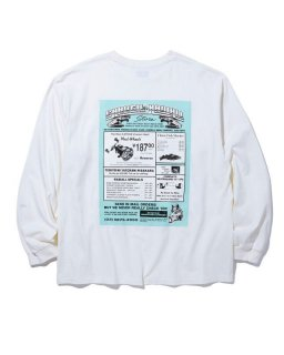 <img class='new_mark_img1' src='https://img.shop-pro.jp/img/new/icons14.gif' style='border:none;display:inline;margin:0px;padding:0px;width:auto;' />RADIALL GAMBLING HOURS CREW NECK T-SHIRT L/S (WHT)