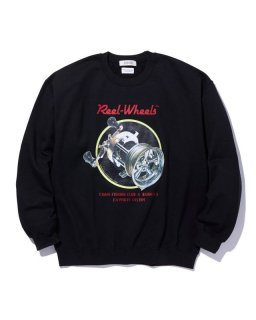 RADIALL GAMBLING HOURS–CREW NECK SWEATSHIRT L/S (BLACK)