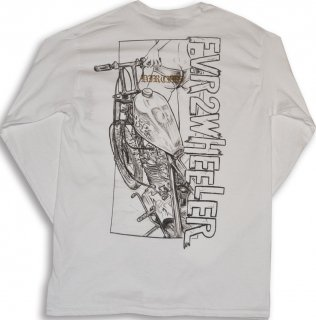 HARDEE LONG SLEEVE TEE  WHT