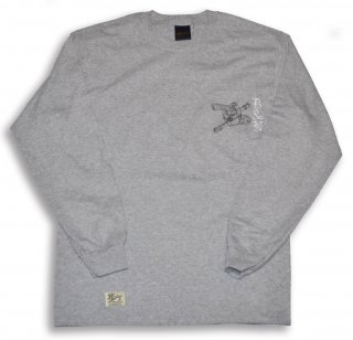 HARDEE LONG SLEEVE TEE  GRY