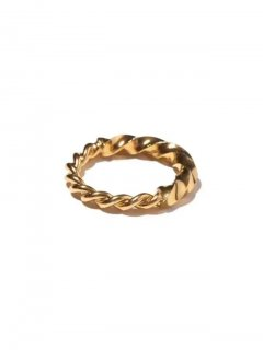 RADIALL TWIST - PINKY RING   18K PLATE