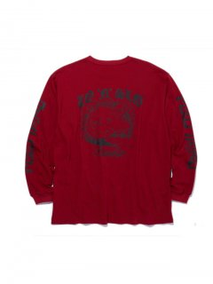 RADIALL PARADISE - CREW NECK T-SHIRT L/S RED
