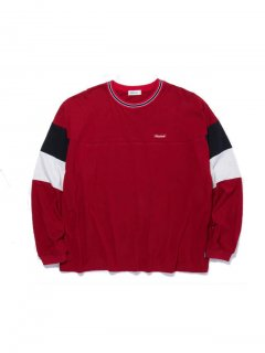 RADIALL CUTLASS - CREW NECK T-SHIRT L/S  RED