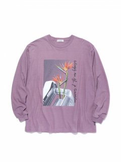 RADIALL  HEDONISM - CREW NECK T-SHIRT L/S PURPLE