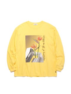 RADIALL  HEDONISM - CREW NECK T-SHIRT L/S YELLOW