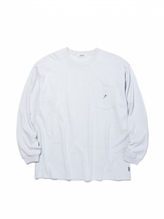RADIALL  ROSE CREW NECK POCKET LONGSLEEVE TEE  Snow White