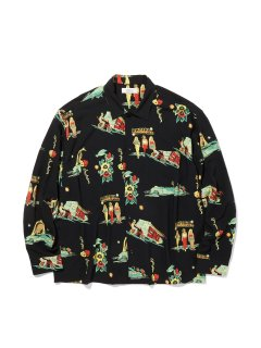 <img class='new_mark_img1' src='https://img.shop-pro.jp/img/new/icons14.gif' style='border:none;display:inline;margin:0px;padding:0px;width:auto;' />RADIALL LOWLOW OPEN COLLARED SHIRTS BLACK