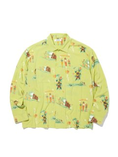 <img class='new_mark_img1' src='https://img.shop-pro.jp/img/new/icons14.gif' style='border:none;display:inline;margin:0px;padding:0px;width:auto;' />RADIALL LOWLOW OPEN COLLARED SHIRTS LIME