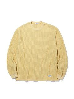 <img class='new_mark_img1' src='https://img.shop-pro.jp/img/new/icons14.gif' style='border:none;display:inline;margin:0px;padding:0px;width:auto;' />RADIALL BIG WAFFLE CREW NECK TEE SHIRTS YELLOW