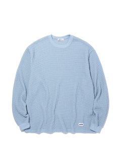 <img class='new_mark_img1' src='https://img.shop-pro.jp/img/new/icons14.gif' style='border:none;display:inline;margin:0px;padding:0px;width:auto;' />RADIALL BIG WAFFLE CREW NECK TEE SHIRTS LIGHT BLUE
