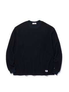 <img class='new_mark_img1' src='https://img.shop-pro.jp/img/new/icons14.gif' style='border:none;display:inline;margin:0px;padding:0px;width:auto;' />RADIALL BIG WAFFLE CREW NECK TEE SHIRTS BLACK