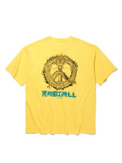 <img class='new_mark_img1' src='https://img.shop-pro.jp/img/new/icons14.gif' style='border:none;display:inline;margin:0px;padding:0px;width:auto;' />RADIALL PEACE ROSE - CREW NECK POCKET T-SHIRT S/S YELLOW
