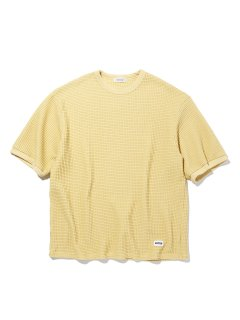 <img class='new_mark_img1' src='https://img.shop-pro.jp/img/new/icons14.gif' style='border:none;display:inline;margin:0px;padding:0px;width:auto;' />RADIALL  BIG WAFFLE - CREW NECK T-SHIRT S/S YELLOW