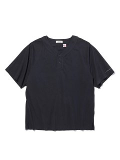RADIALL JAQUE HENLEY NECK TEE SHIRTS BLACK