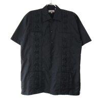 (BLK/M) Chic Elegant  キューバシャツ(新品)【メール便可】