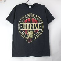 (M) ニルヴァーナ Guitar Tシャツ(新品)