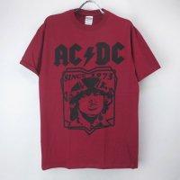 (L)AC/DC RED Tシャツ(新品) 【メール便可】