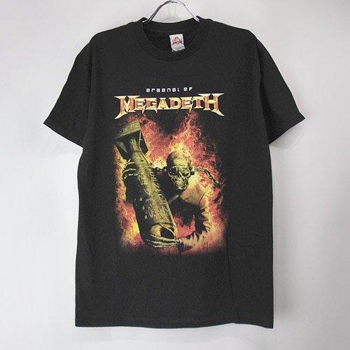 (M) メガデス arsenal Tシャツ(新品)  【メール便可】