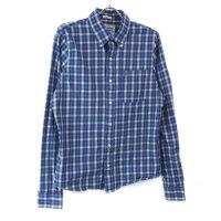 アバクロンビー チェックシャツ BLUE 古着【メール便可】