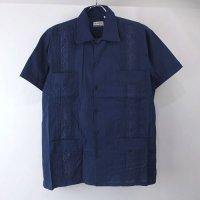 (NVY/M)  Chic Elegant  キューバシャツ(新品)【メール便可】
